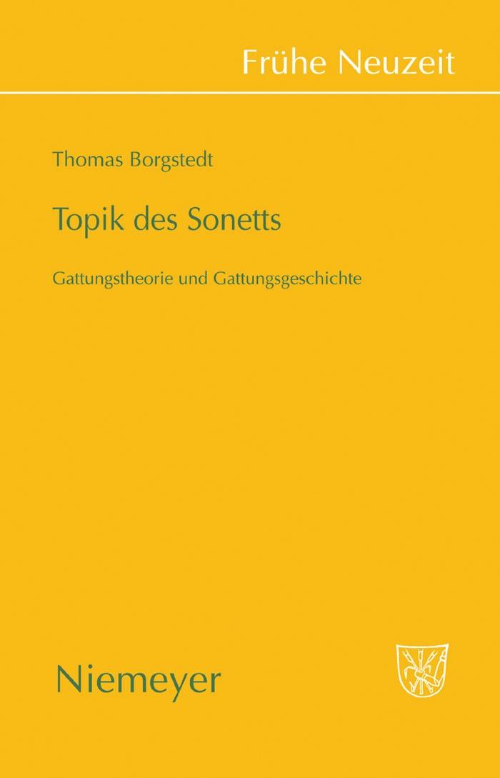 Topik des Sonetts | Borgstedt, 2009 | Buch (Cover)