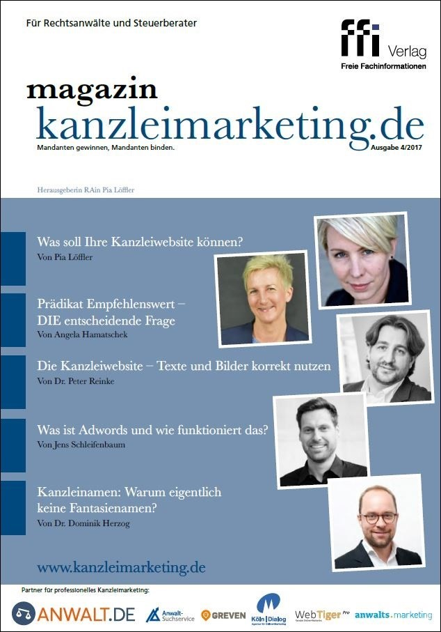 magazin kanzleimarketing.de | 4/2017 (Cover)