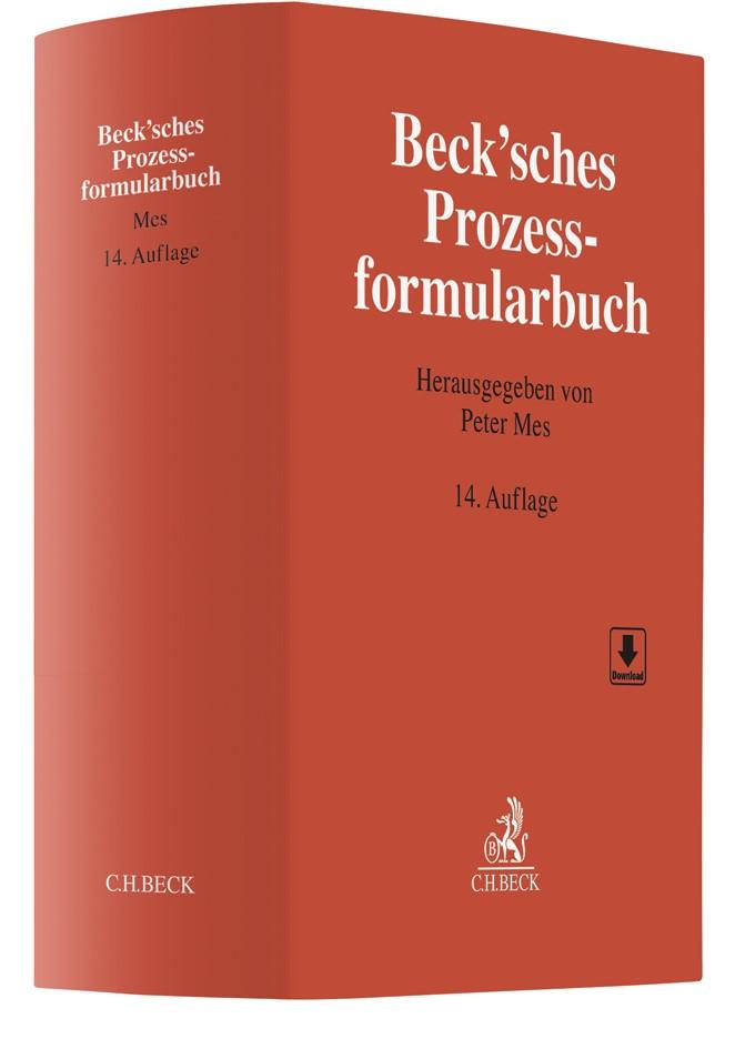 Beck'sches Prozessformularbuch | 14. Auflage, 2018 | Buch (Cover)