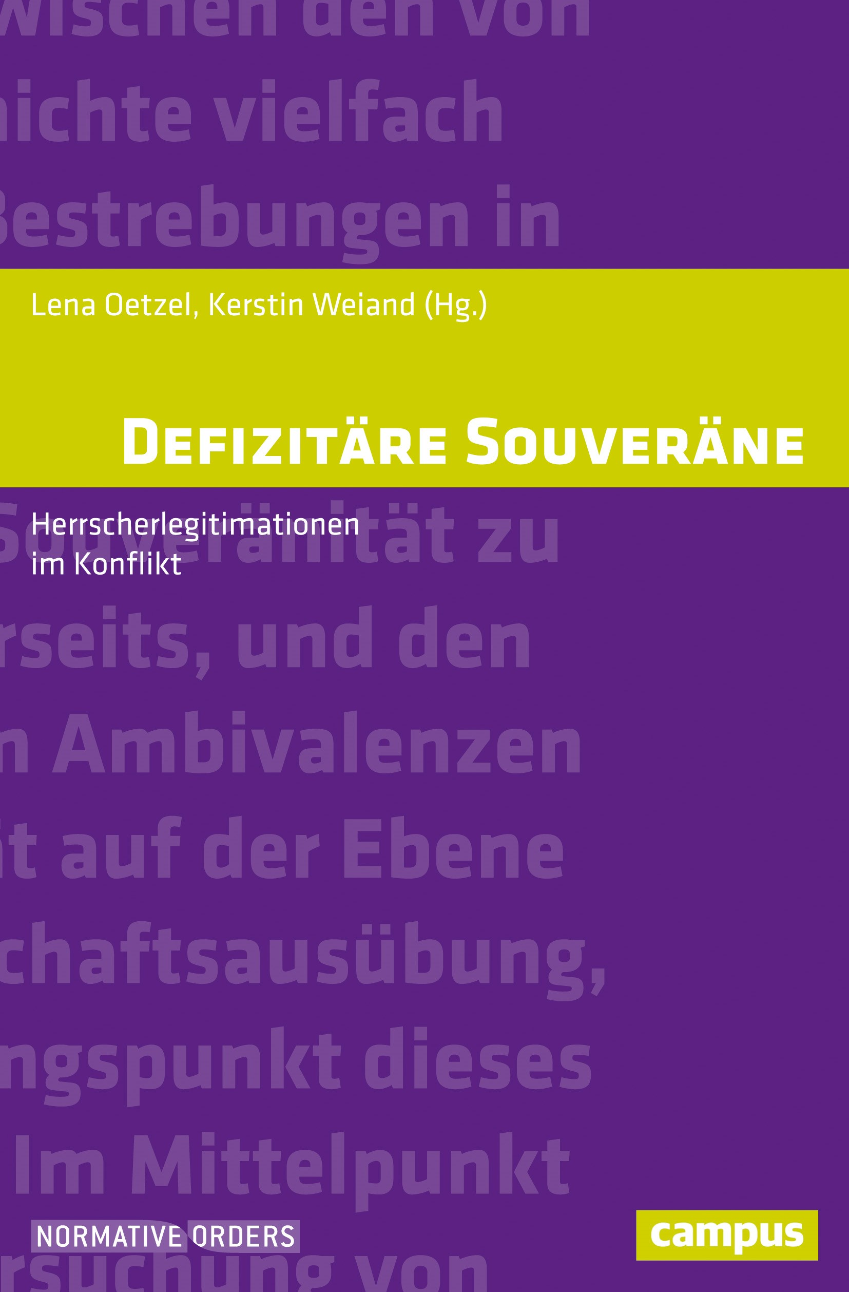 Defizitäre Souveräne | Oetzel / Weiand, 2018 | Buch (Cover)