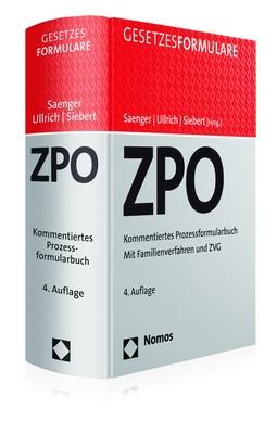 Zivilprozessordnung: ZPO | Saenger / Ullrich / Siebert (Hrsg.) | 4. Auflage, 2018 (Cover)