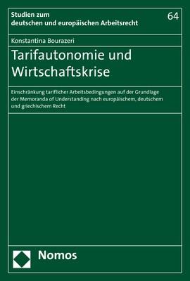 Wirtschaftskrise und Tarifautonomie | Bourazeri, 2019 | Buch (Cover)