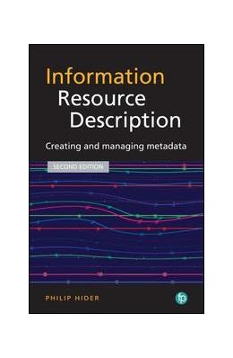 Abbildung von Hider   Information Resource Description   2018   Creating and managing metadata