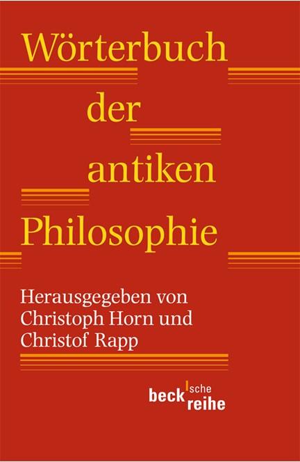 Cover: , Wörterbuch der antiken Philosophie