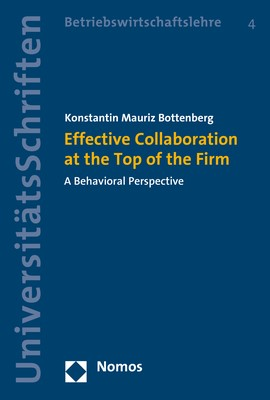 Effective Collaboration at the Top of the Firm | Bottenberg, 2017 | Buch (Cover)