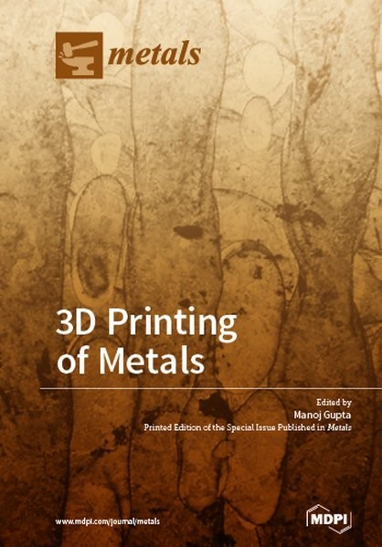3D Printing of Metals, 2017 | Buch (Cover)