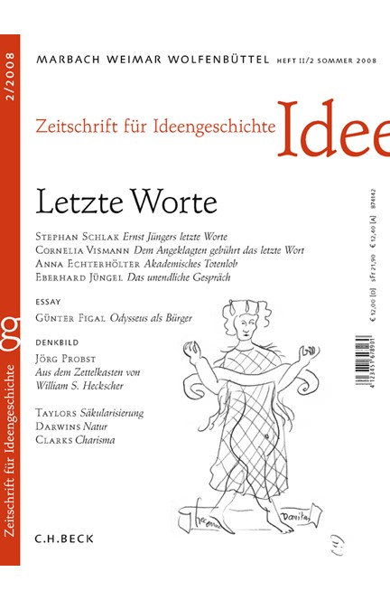 Cover: , Zeitschrift für Ideengeschichte: ZIG (2008) Heft 2: Letzte Worte