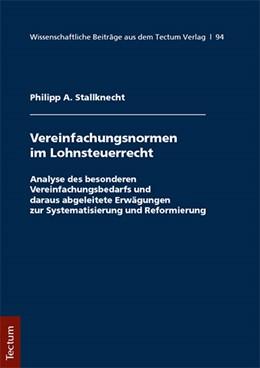 Abbildung von Stallknecht | Vereinfachungsformen im Lohnsteuerrecht | 1. Auflage | 2017 | beck-shop.de