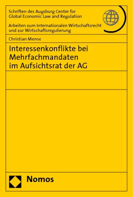 Abbildung von Mense | Interessenkonflikte bei Mehrfachmandaten im Aufsichtsrat der AG | 2008