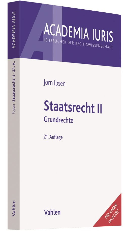 Staatsrecht II | Ipsen | 21., überarbeitete Auflage | Buch (Cover)