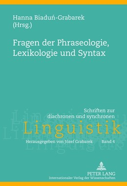 Abbildung von Biadun-Grabarek   Fragen der Phraseologie, Lexikologie und Syntax   2013