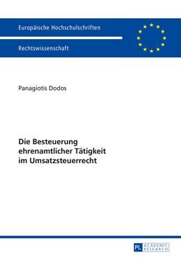 Abbildung von Dodos   Die Besteuerung ehrenamtlicher Taetigkeit im Umsatzsteuerrecht   2015