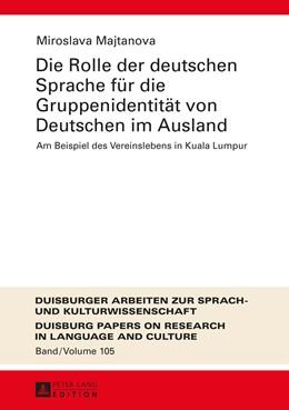 Abbildung von Majtanova | Die Rolle der deutschen Sprache fuer die Gruppenidentitaet von Deutschen im Ausland | 2015 | Am Beispiel des Vereinslebens ...