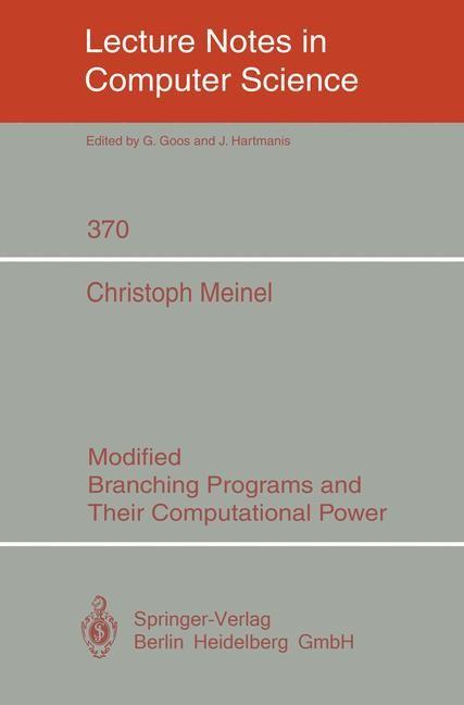 Abbildung von Meinel | Modified Branching Programs and Their Computational Power | 1989