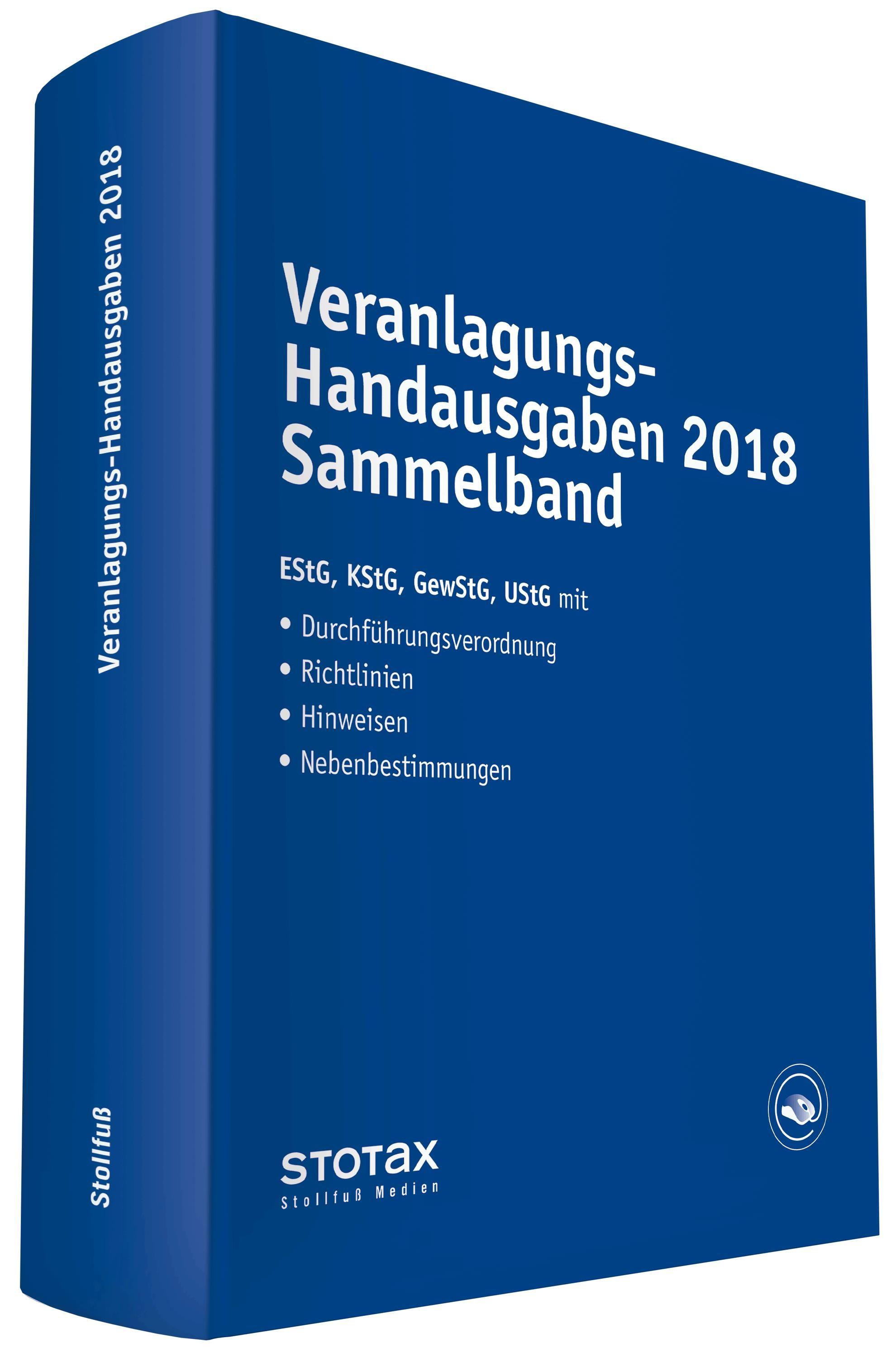 Veranlagungs-Handausgaben 2017 Sammelband | 2017, 2018 | Buch (Cover)