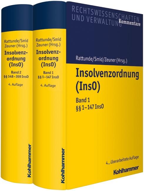 Insolvenzordnung (InsO) | Rattunde / Smid / Zeuner (Hrsg.) | 4., überarbeitete Auflage, 2018 | Buch (Cover)