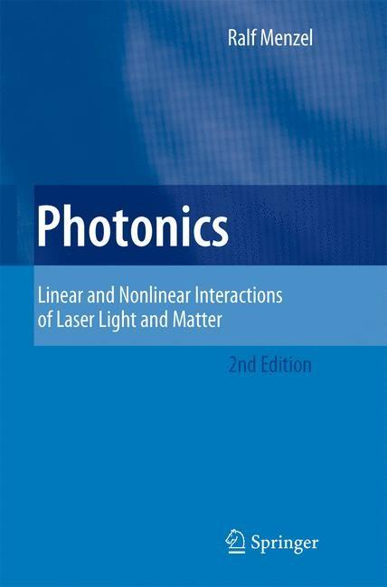 Abbildung von Menzel | Photonics | 2nd ed. | 2007