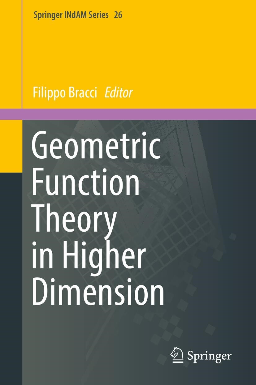 Geometric Function Theory in Higher Dimension | Bracci | 1st ed. 2017, 2018 | Buch (Cover)