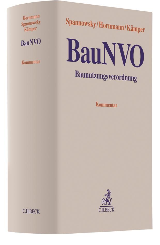 Baunutzungsverordnung: BauNVO | Spannowsky / Hornmann / Kämper, 2018 | Buch (Cover)
