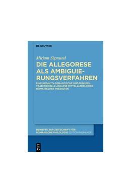 Abbildung von Sigmund   Allegorese als Ambiguierungsverfahren   1. Auflage   2018   423   beck-shop.de