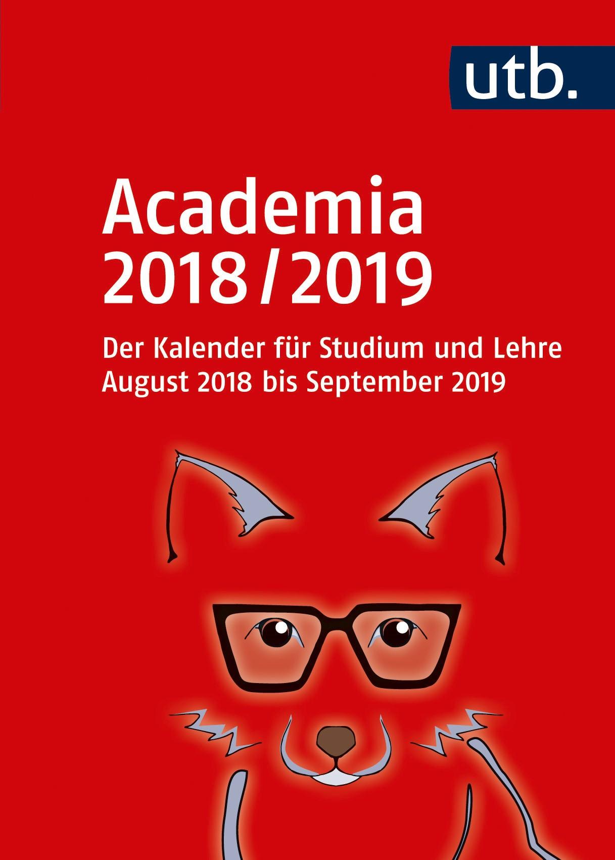Abbildung von Academia 2018/2019 – Der Kalender für Studium und Lehre | 2018