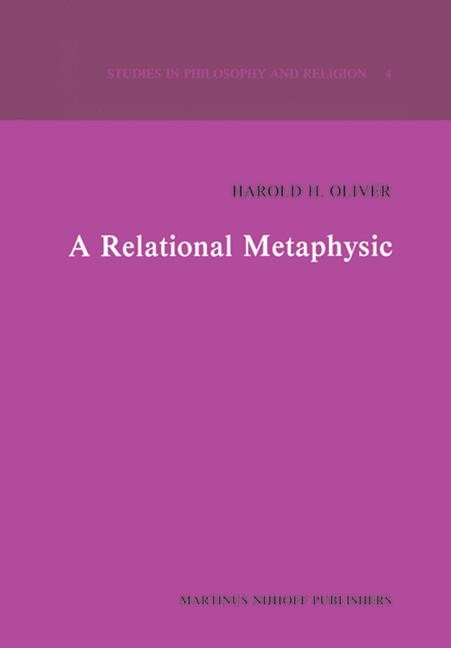 A Relational Metaphysic | Oliver, 1981 | Buch (Cover)