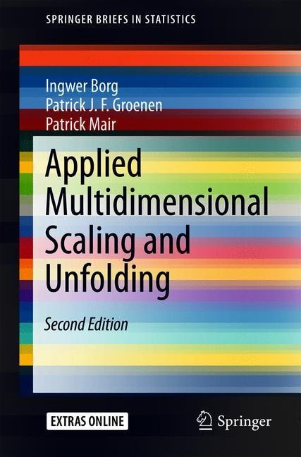 Applied Multidimensional Scaling and Unfolding | Borg / Groenen / Mair | 2nd ed. 2018, 2017 | Buch (Cover)