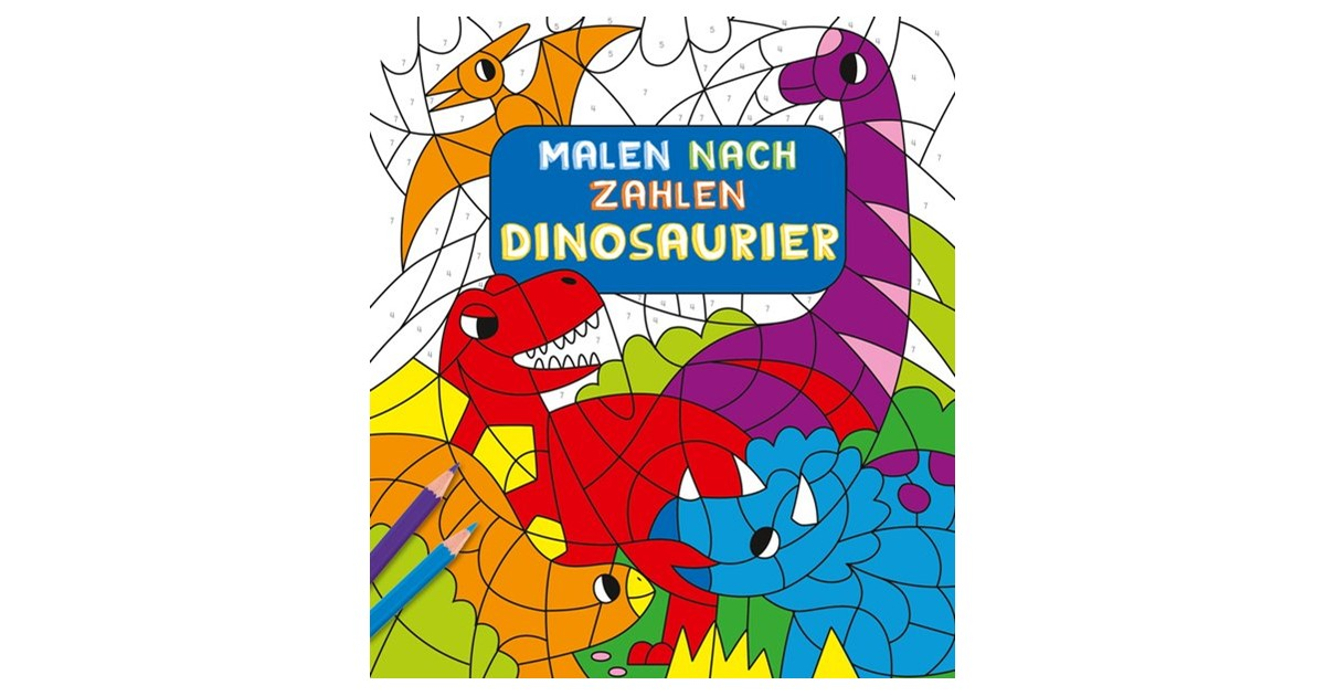 Malen Nach Zahlen Für Kinder Dinosaurier