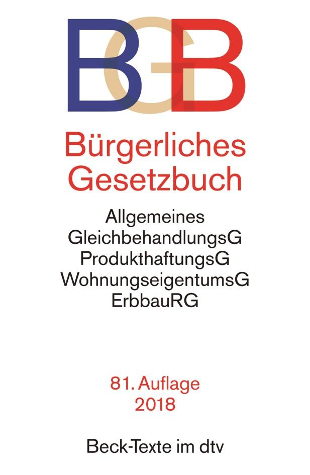 Bürgerliches Gesetzbuch: BGB | 81., überarbeitete Auflage, 2018 | Buch (Cover)