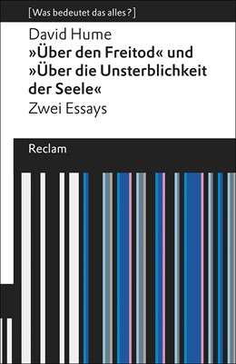 Abbildung von Hume   »Über den Freitod« und »Über die Unsterblichkeit der Seele«   1. Auflage   2018   beck-shop.de
