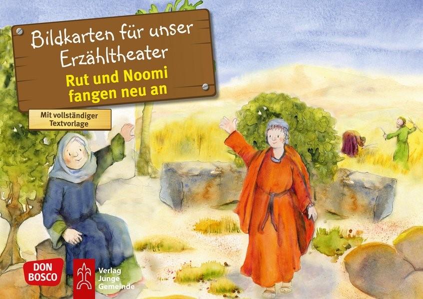 Rut und Noomi fangen neu an. Kamishibai Bildkartenset. | Brandt, 2018 (Cover)