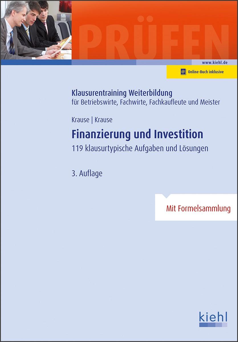 Finanzierung und Investition | Krause | 3., aktualisierte Auflage, 2018 | Buch (Cover)