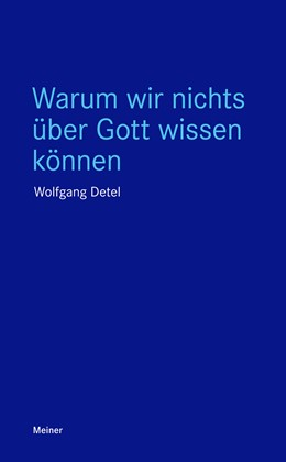 Abbildung von Detel   Warum wir nichts über Gott wissen können   1. Auflage   2018   beck-shop.de