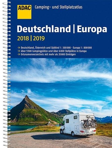ADAC Camping- und Stellplatzatlas Deutschland/Europa 2018/2019 | 3. Auflage, 2018 | Buch (Cover)