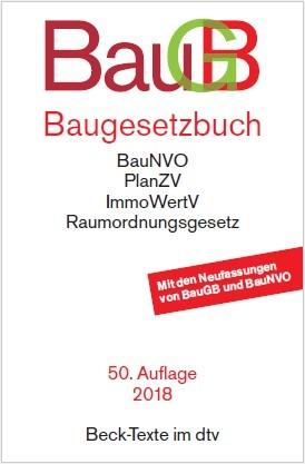 Baugesetzbuch: BauGB | 50. Auflage, 2018 | Buch (Cover)