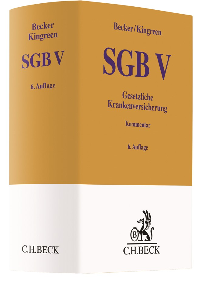 SGB V • Gesetzliche Krankenversicherung | Becker / Kingreen | 6. Auflage, 2018 | Buch (Cover)
