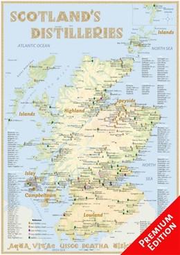 Abbildung von Hirst   Whisky Distilleries Scotland - Poster 42x60cm - Premium Edition   aktualisierte Auflage   2016   The Whiskylandscape in Overvie...