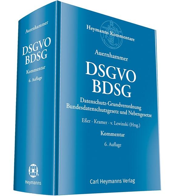 DSGVO/BDSG   Eßer / Kramer / Lewinski (Hrsg.)   6. Auflage, 2018   Buch (Cover)