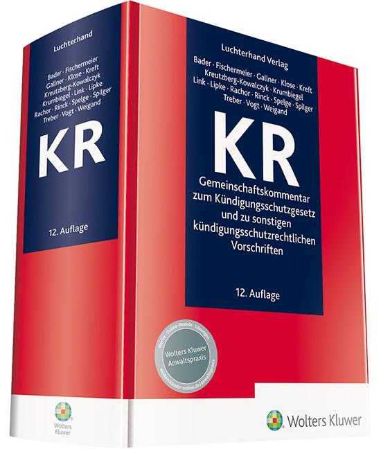 KR | Bader / Fischermeier / Gallner u.a. | 12. Auflage, 2019 | Buch (Cover)