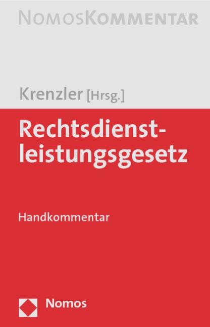 Rechtsdienstleistungsgesetz | Krenzler, 2009 | Buch (Cover)