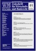 Wertpapier-Mitteilungen: WM IV (Cover)