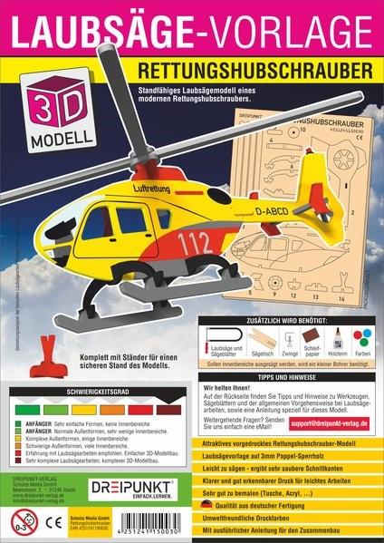 Abbildung von 3D Laubsägevorlage Rettungshubschrauber | 2017
