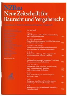 Abbildung von NZBau • Neue Zeitschrift für Baurecht und Vergaberecht | 19. Auflage | 2021 | beck-shop.de