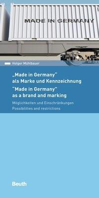 Made in Germany - als Marke und Kennzeichnung | Mühlbauer, 2018 | Buch (Cover)