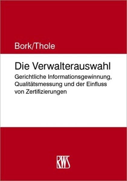 Die Verwalterauswahl | Bork, 2018 | Buch (Cover)