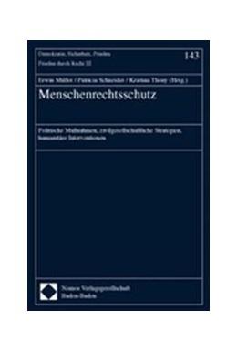 Abbildung von Müller / Schneider / Thony | Menschenrechtsschutz | 2002 | Politische Maßnahmen, zivilges...