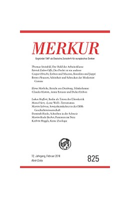 Abbildung von Demand | MERKUR Deutsche Zeitschrift für europäisches Denken Nr. 825, Heft Februar 2018 | 1. Auflage | 2018 | beck-shop.de