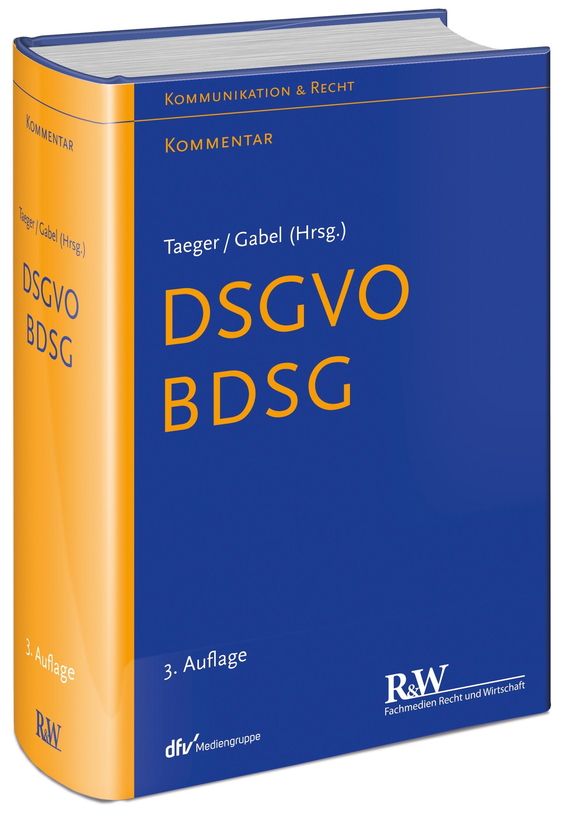 DSGVO - BDSG | Taeger / Gabel (Hrsg.) | 3., neu bearbeitete Auflage, 2019 | Buch (Cover)