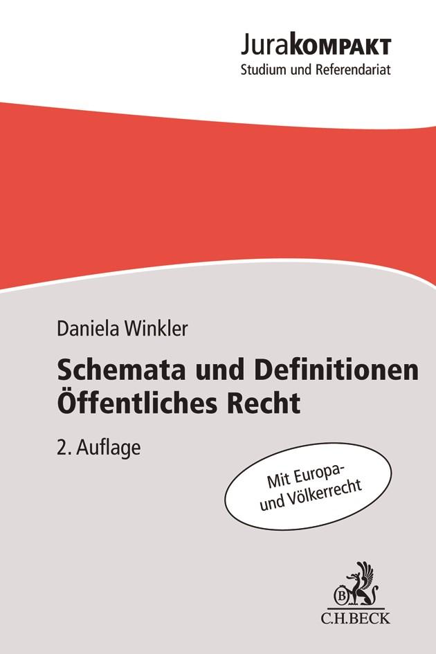 Schemata und Definitionen Öffentliches Recht | Winkler | 2. Auflage, 2018 | Buch (Cover)