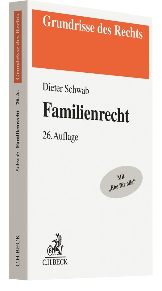 Familienrecht | Schwab | 26., neu bearbeitete Auflage, 2018 | Buch (Cover)